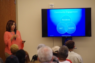 Neighborhood Development Executive of the Neighborhood Stabilization Team (NST) Dotti McDowell