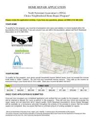 Choice Neighborhood Home Repair Application pg. 1